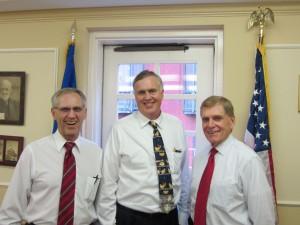 L to R: Roger Johnson, National Farmers Union President; Ed Luttrell, President of the National Grange; Burton Eller, National Grange Legislative Director.