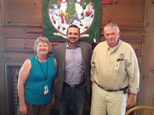Pictured (L to R): Linda Sanderson, whose husband Dale is past State Master of Vermont Grange;  Elvis Cordova, Deputy Under Secretary for Marketing and Regulatory Programs, USDA, Washington, DC;  Steve Logan, State Master of Rhode Island Grange